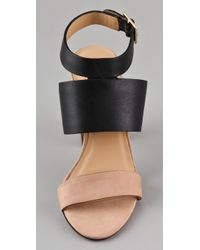 Elizabeth and James - Black Clair High Heel Sandals - Lyst