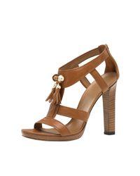 Gucci - Brown Marrakech Tassel T-strap Sandal - Lyst