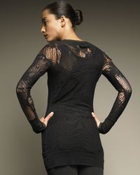 Jean Paul Gaultier - Black Long-sleeve Lace Tunic - Lyst