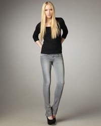 Joe's Jeans | Gray Skinny Micro Flare Alicia Jeans | Lyst