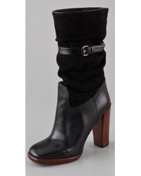 Marc By Marc Jacobs | Black Corduroy Slouchy Boots | Lyst