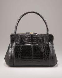 Nancy Gonzalez | Black Small Crocodile Top-handle Satchel | Lyst