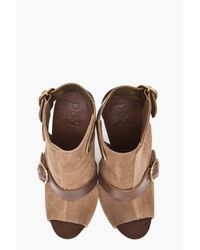 Pedro Garcia - Brown Christel Backless Booties - Lyst