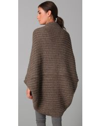 RLX Ralph Lauren - Gray Dolman Sleeve Wrap Cardigan - Lyst