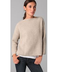 VINCE | Natural Chunky Sweater | Lyst