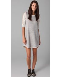 3.1 Phillip Lim | Gray Exposed Binding Terry Dress | Lyst