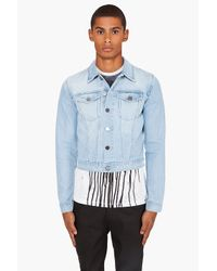 Acne | Blue Steve Pearl Denim Jacket for Men | Lyst
