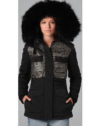 Alexander Wang - Black Hybrid Tweed Ski Jacket - Lyst
