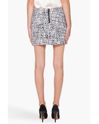 Alice + Olivia - Black Elana Boucle Mini Skirt - Lyst