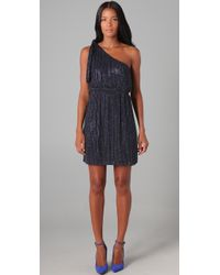 Alice + Olivia | Blue Sadie Beaded One Shoulder Dress | Lyst