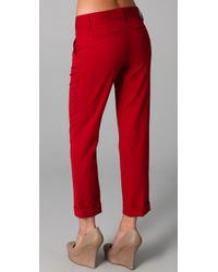 Alice + Olivia - Red Stacey Skinny Pants - Lyst