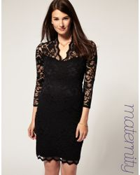 ASOS Collection | Black Asos Maternity Katie Lace Dress | Lyst