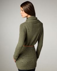 Autumn Cashmere - Green Draped Cable-knit Cardigan - Lyst