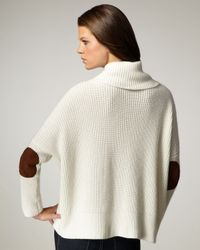 Autumn Cashmere - White Elbow-patch Cowl-neck Sweater - Lyst