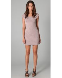 BCBGMAXAZRIA - Natural Briana Pleated Dress - Lyst