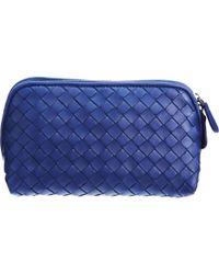 Bottega Veneta Medium Intrecciato Cosmetic Bag in Blue - Lyst 8ac9a39a557c6