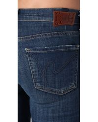 Citizens of Humanity | Blue Avedon Skinny Leg Jeans | Lyst