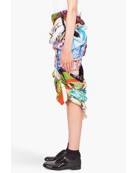 Comme des Garçons | Multicolor Vintage Scarf Skirt | Lyst