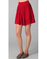 Dolce Vita | Red Allegra Pleated Knit Skirt | Lyst