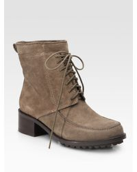 Elizabeth and James | Brown Wilda Suede Ankle Boots | Lyst