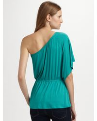 Ella Moss - Blue One-shoulder Top - Lyst