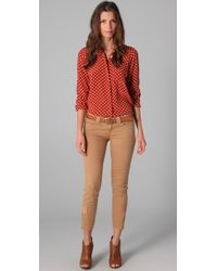 Equipment - Red Quinn Cuatro Puntos Print Blouse - Lyst