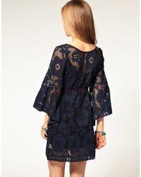 Free People | Blue Antique Lace 60s Shift Dress | Lyst