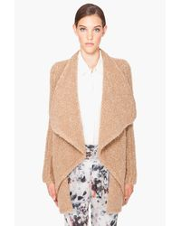 Givenchy | Brown Boucle Cardigan | Lyst