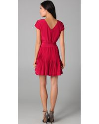 Gryphon - Red Pintuck Dress - Lyst