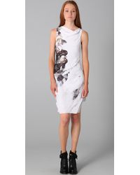 Helmut Lang - Brown Carrion Print Sleeveless Dress - Lyst