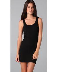 James Perse - Black Long Rib Tank Dress - Lyst