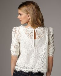 Joie - White Fanny Lace Top - Lyst