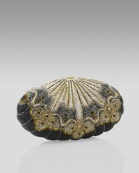Judith Leiber - Metallic Black Sea Shell Minaudiere - Lyst