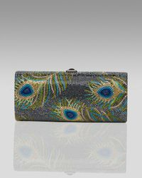 Judith Leiber | Multicolor Peacock Cylinder Minaudiere | Lyst