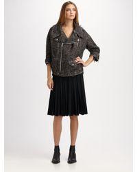 Junya Watanabe | Black Pleated Wool Skirt | Lyst