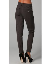 L.A.M.B. - Gray Cuffed Skinny Trousers - Lyst