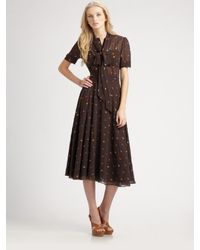 Marc By Marc Jacobs | Brown Galena Embroidery Dress | Lyst