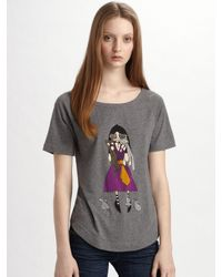Marc By Marc Jacobs | Metallic Miss Marc Scaredy Cat T-shirt | Lyst