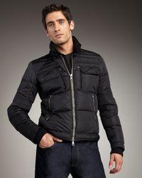 Moncler | Black Edouard Racer Jacket for Men | Lyst