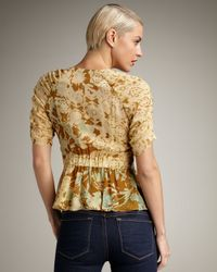 Nanette Lepore | Metallic Constellation Floral Top | Lyst