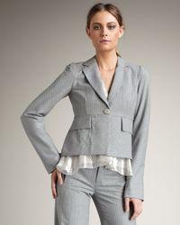 Nanette Lepore | Gray Capricorn Pinstripe Blazer | Lyst