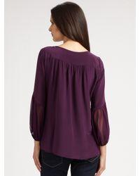 Nanette Lepore   Purple Ingenue Silk Blouse   Lyst