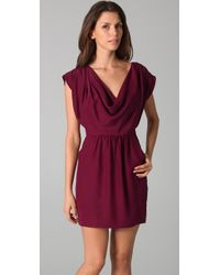 Parker | Purple Cowl Neck Dress | Lyst