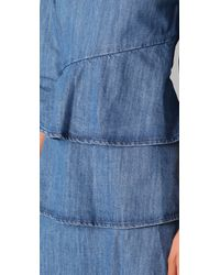 Pray For Mother Nature - Blue Cuts Like A Knife Ruffle Dress - Lyst