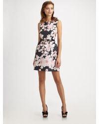 RED Valentino | Black Printed Sleeveless Dress | Lyst