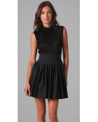 Thakoon | Black Sleeveless Cinched Waist Dress | Lyst