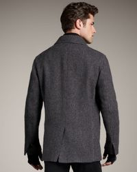 Theory - Gray Wool Pea Coat for Men - Lyst