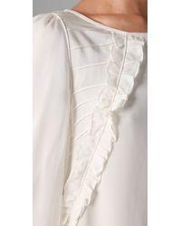 Tibi | White Ruffle Front Dress | Lyst