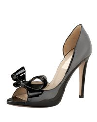Valentino - Black Couture Bow Platform Pump - Lyst