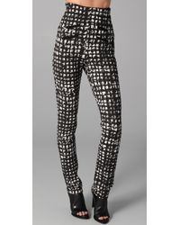 Willow - Black Print High Waisted Pants - Lyst